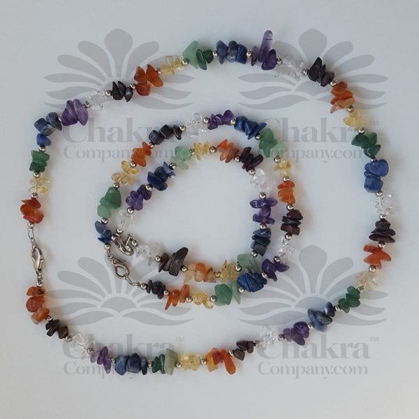 Chakra Chip Necklace, Anklet and Bracelet